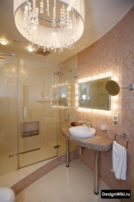 Потолок для ванной в классическом стиле