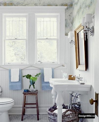Прованс ванная в светлых тонах