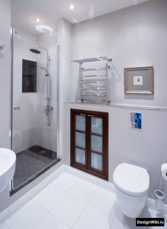 Смесь современного стиля и классики в ванной комнате
