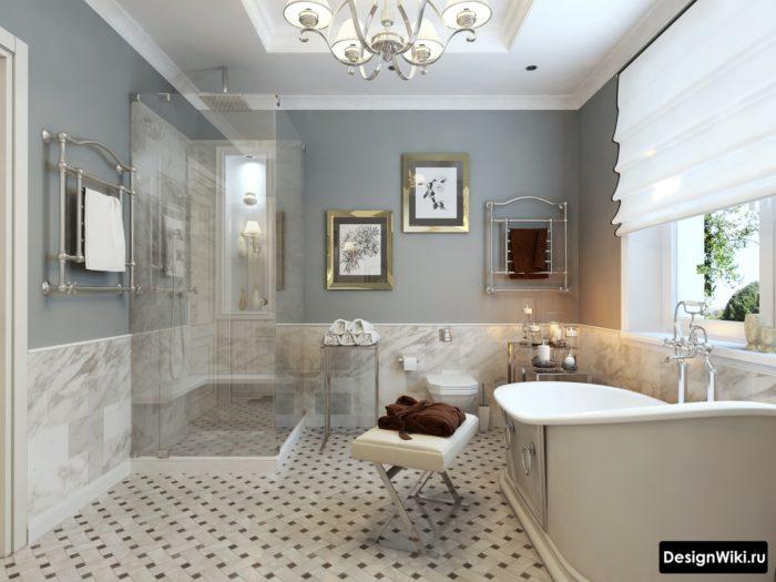 Современный вариант прованса в ванной