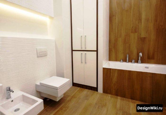Современный вариант раскладки плитки в ванной