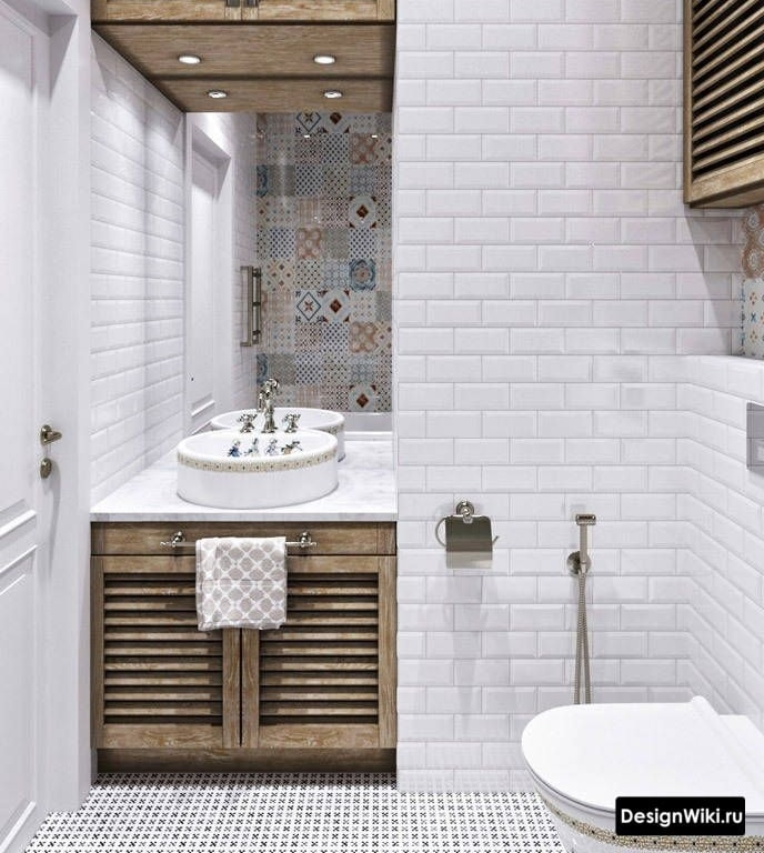 Сочетание прованса и минимализма в ванной комнате