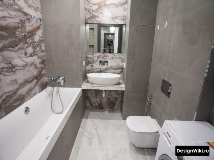 Стык плитки на внутренних углах в ванной комнате