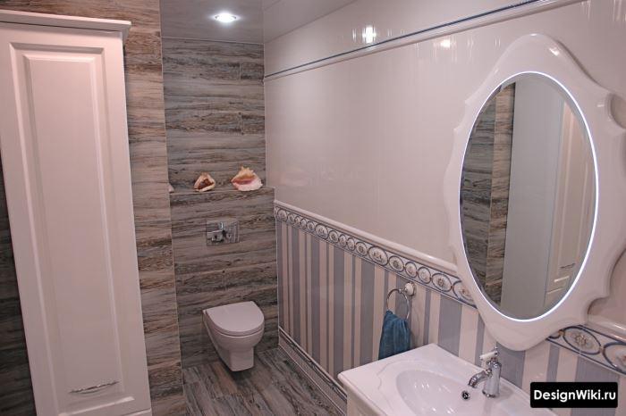 Французский дизайн ванной комнаты