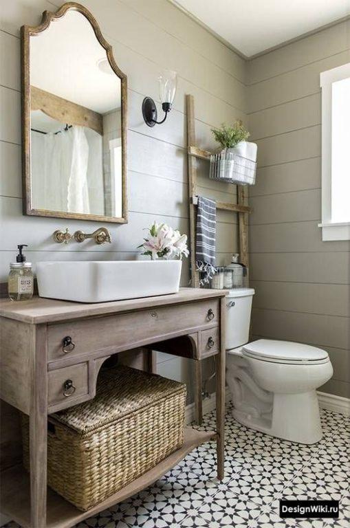 Французский прованс в ванной комнате
