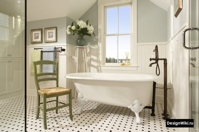 Французский ретро прованс в ванной