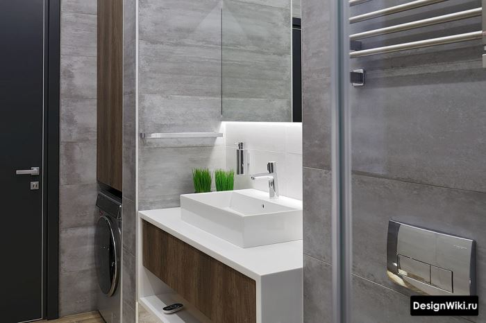 Хай-тек лофт отделка ванной комнаты