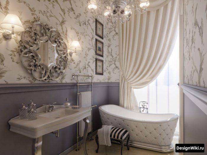 Шикарная ванная в стиле арт-деко