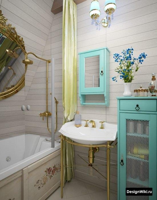 Яркая ванная в классическом стиле #интерьер #дизайнванной