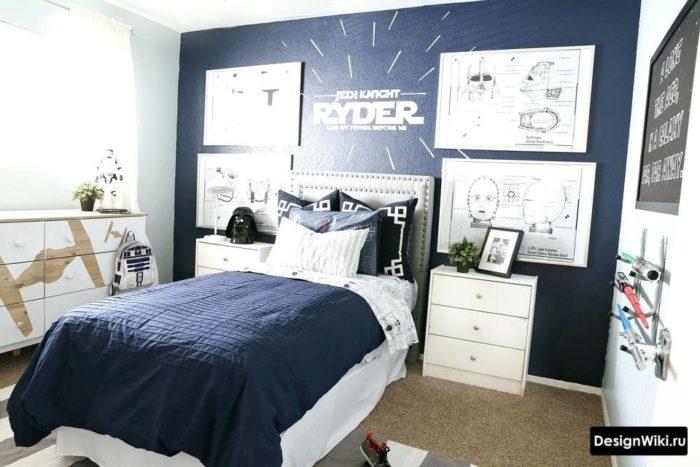 Дизайн комнаты мальчика-подростка 15 лет в стиле звездных войн