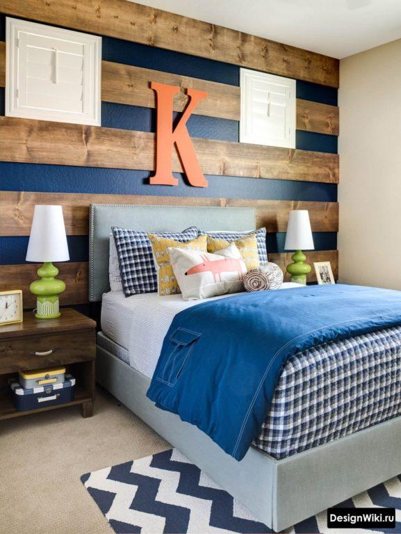 Дизайн спальни подростка мальчика в современном стиле