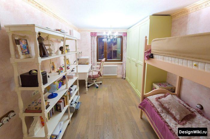 Дизайн узкой комнаты для девочки подростка