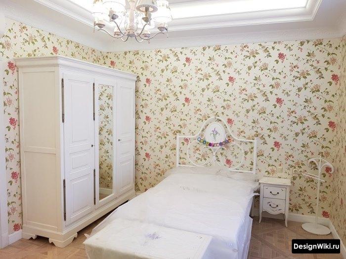 Интерьер комнаты девочки-подростка в стиле шебби шик