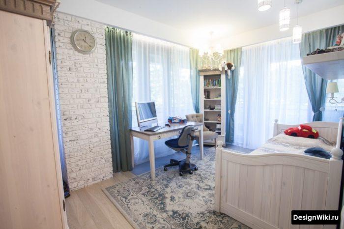 Интерьер комнаты мальчика подростка в стиле прованс