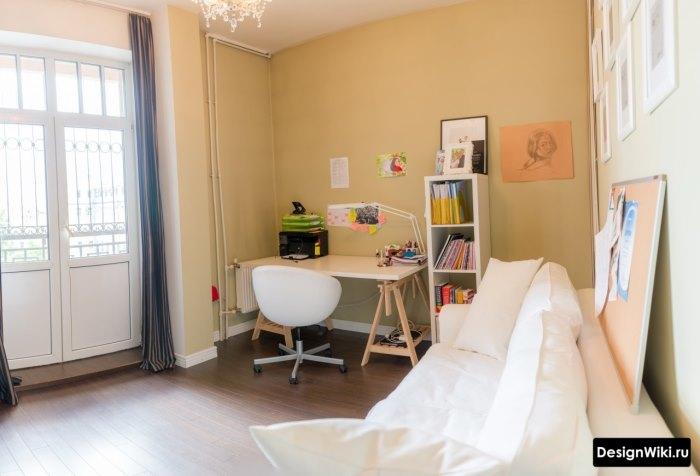 Комната девочки-подростка в стиле минимализм под самостоятельное оформление