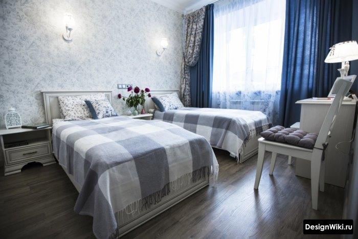 Комната для двух девочек-подростков в стиле прованс