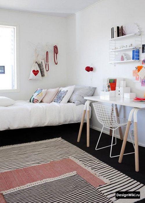 Комната для девочки подростка в стиле минимализм