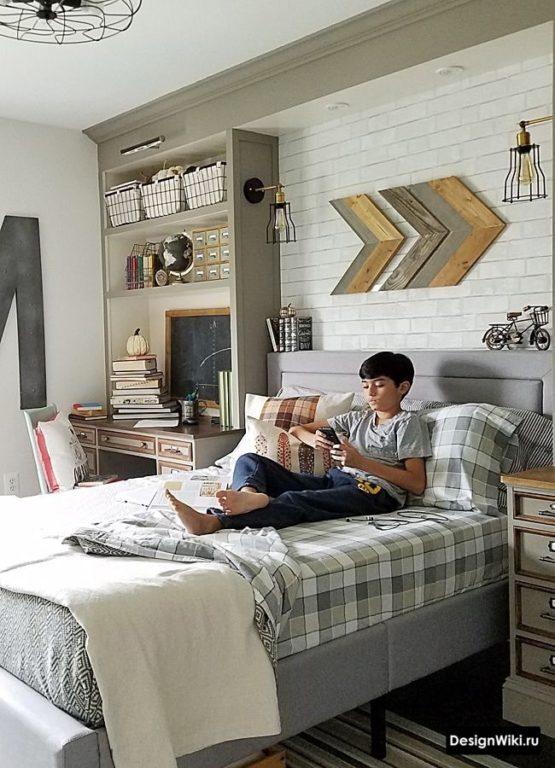 Комната мальчика подростка в скандинавском стиле