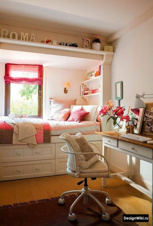 Кровать с ящиками для подростка девочки