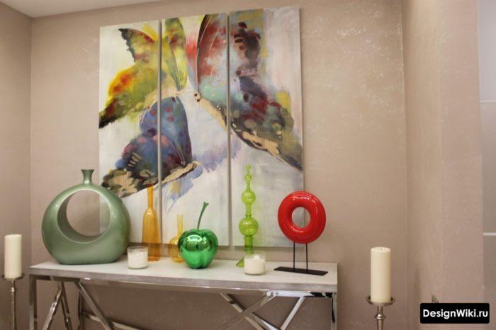 Модульная картина в комнате подростка девочки