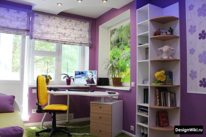 Реальный интерьер комнаты девочки-подростка