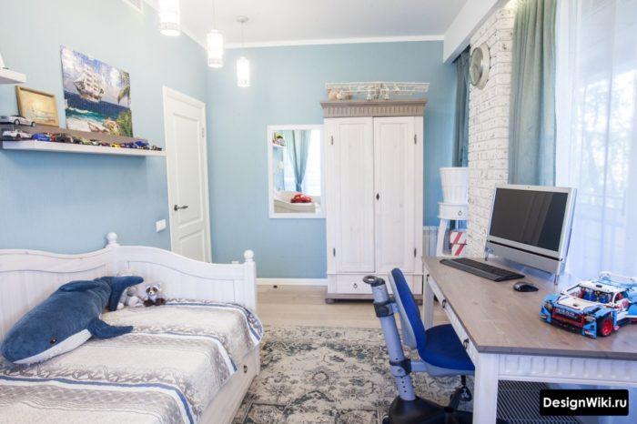 Стильный дизайнерский ремонт в комнате подростка мальчика