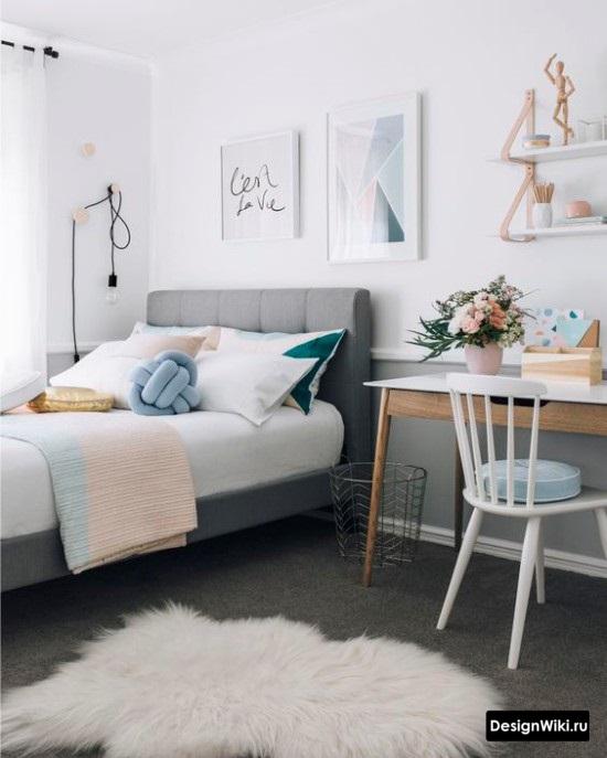 Уютный дизайн комнаты подростка-девочки