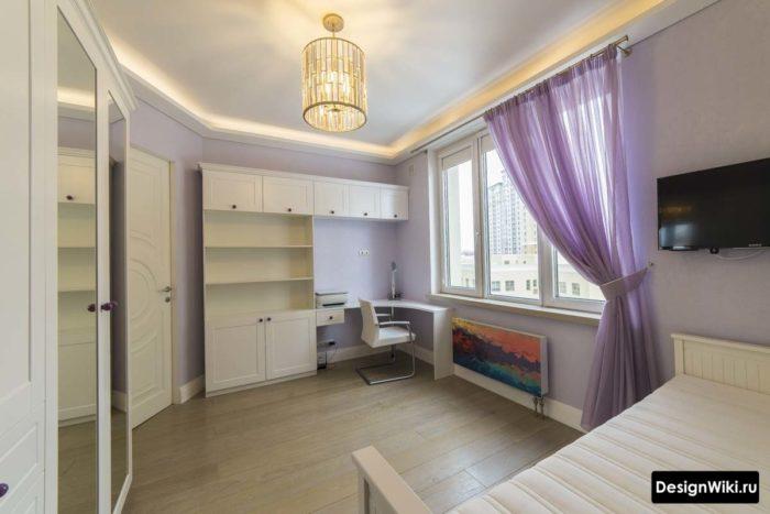 Фиолетовая комната для девушки в стиле современная классика