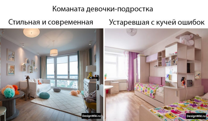 комната для девочки-подростка в современном стиле