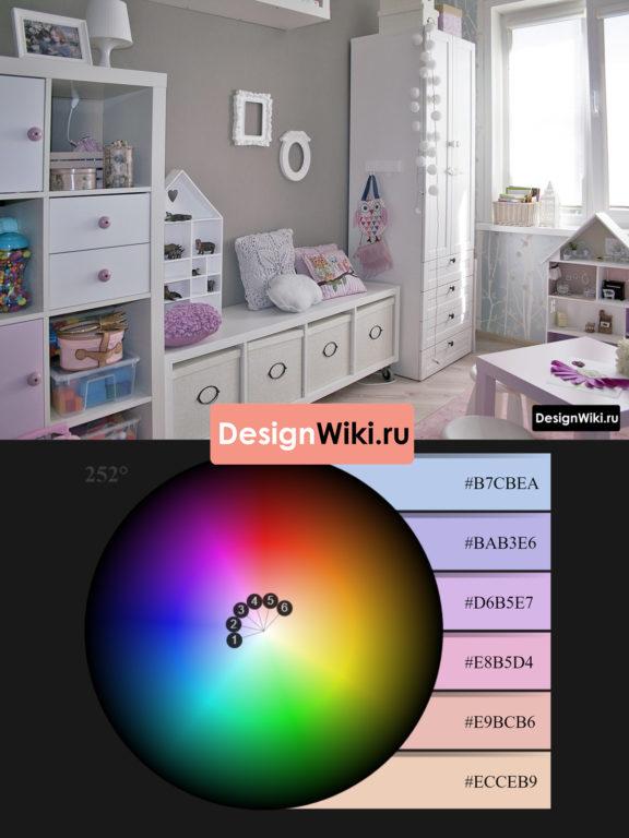 Оформление детской комнаты для девочки #дизайнинтерьера #дизайндетской