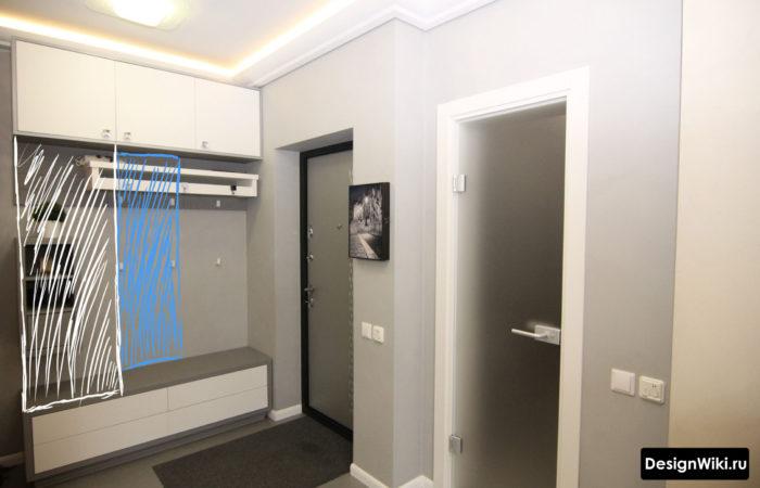 Дизайн малогабаритной прихожей в обычной квартире