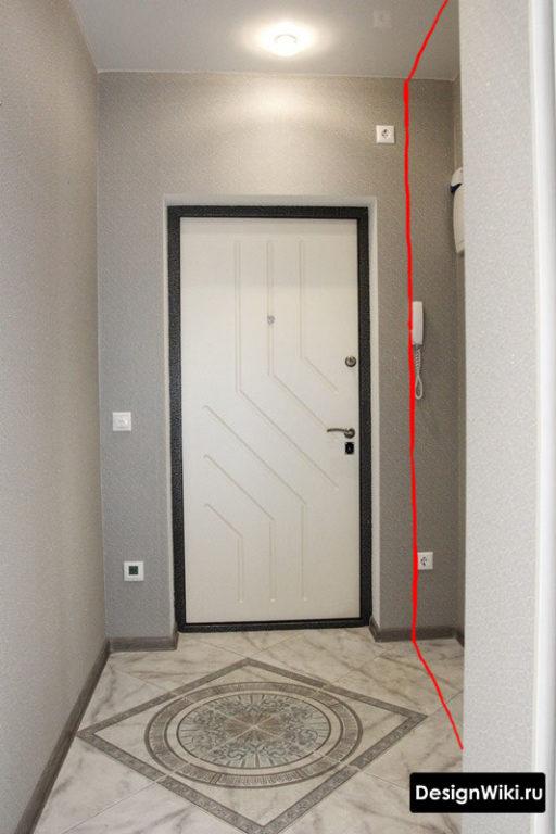 Дизайн узкой прихожей - место для мебели