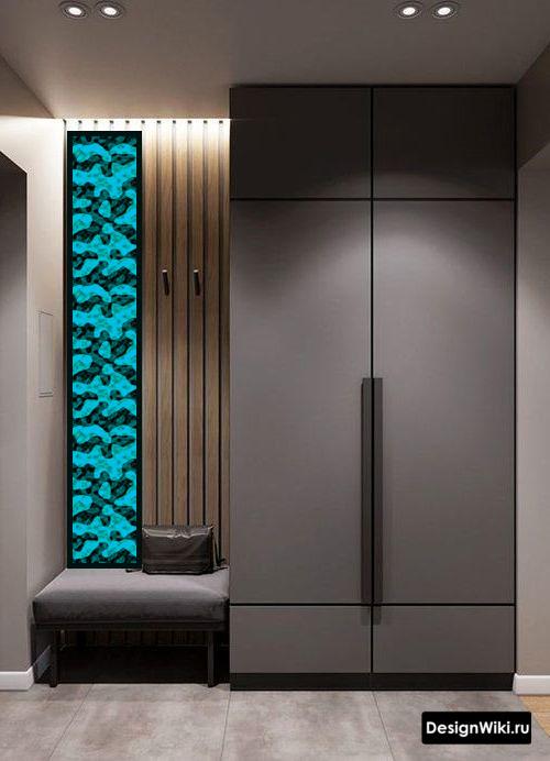 Проект современной мебели для прихожей в маленький коридор