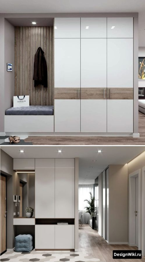 Варианты современного дизайна прихожей в квартире #дизайн #прихожая