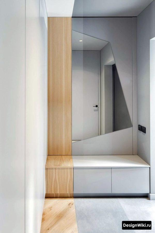 Дизайн прихожей в квартире в стиле хай-тек