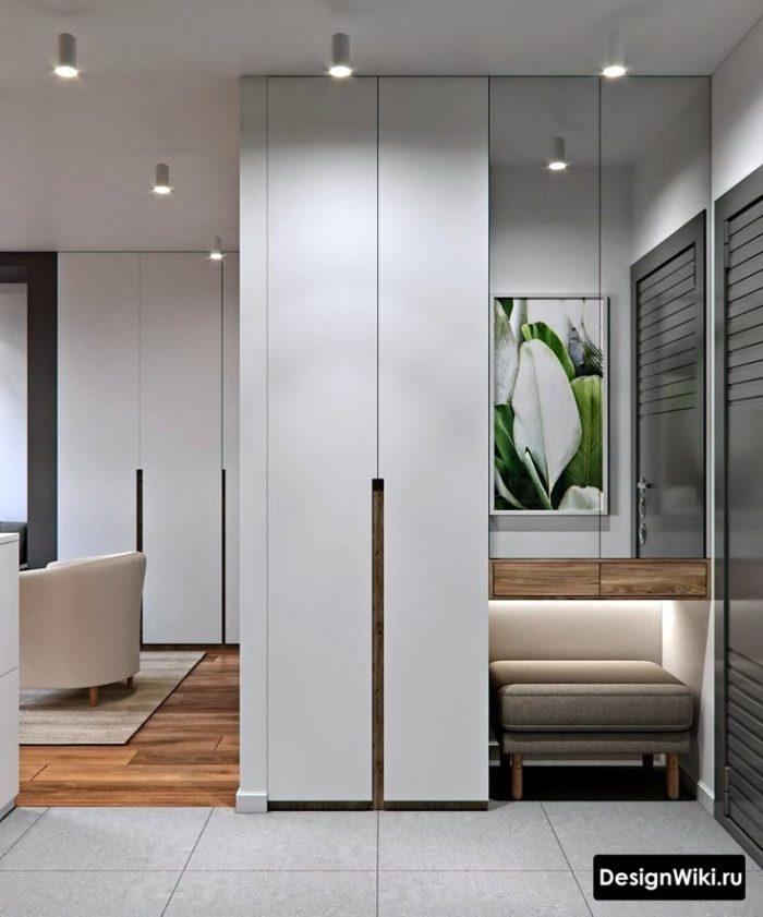 Интерьер прихожей в квартире в современном арт-деко