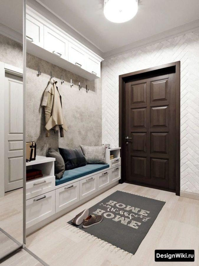 Недорогой и красивый дизайн прихожей в квартире #интерьер #дизайнприхожей