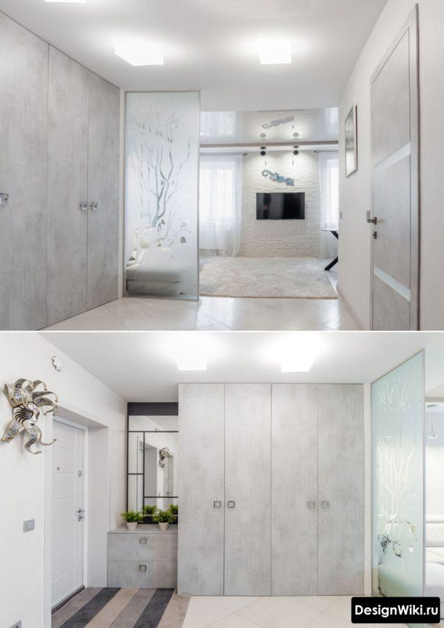 Реальные фото современного дизайна прихожей в квартире #интерьер