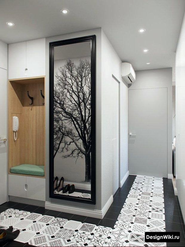 Современный минимализм в интерьере прихожей в квартире #дизайн #прихожая