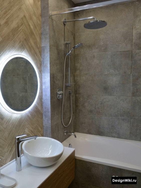 дизайн ванной с умывальником чашей