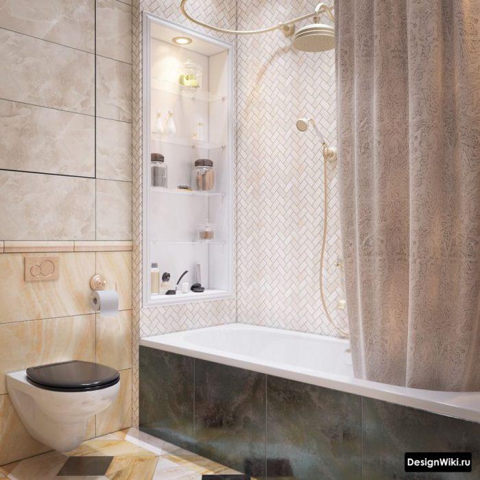 классический стиль на современный лад в ванной