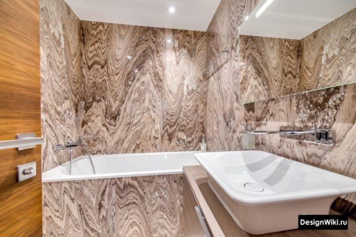 плитка под сланец в ванной