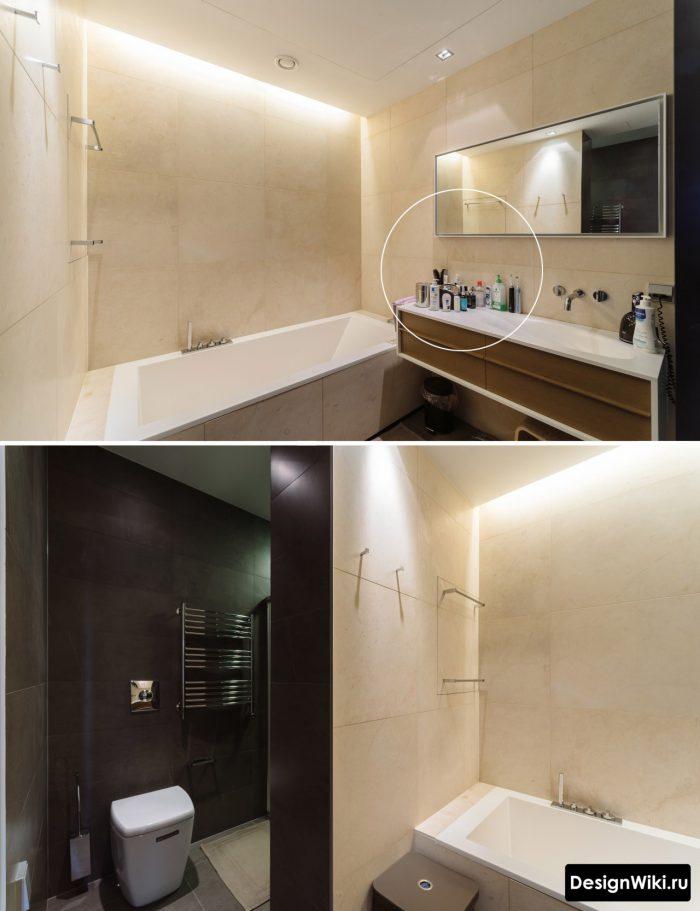 современная минималистичная ванная комната