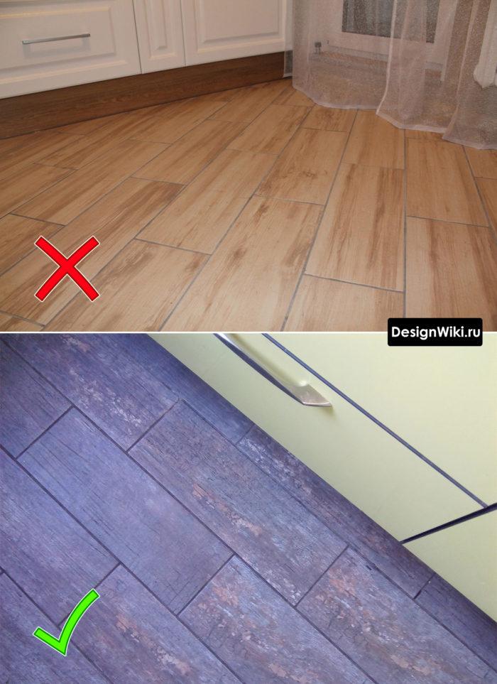 Выбор цвета затирки для швов плитки на полу кухни