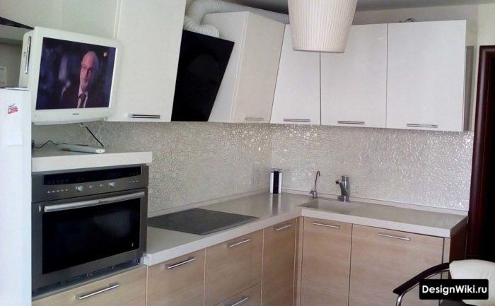 Идея как сделать верхний угол шкафа в кухонном гарнитуре