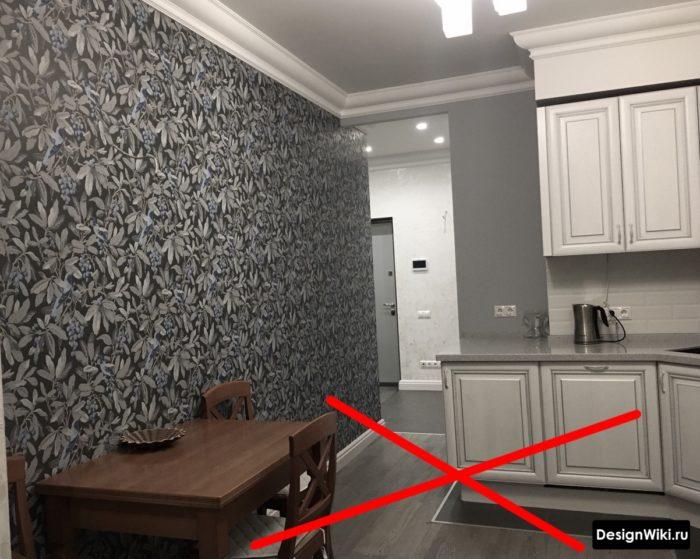 Маленькая зона из плитки на кухне - ошибка