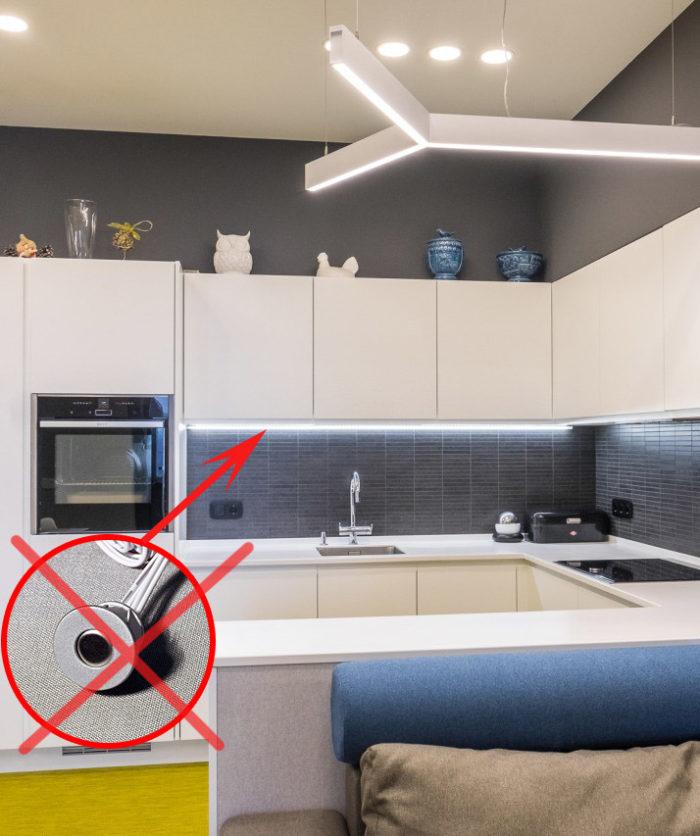 Ошибка в проекте расположения подсветки и выключателя на кухне