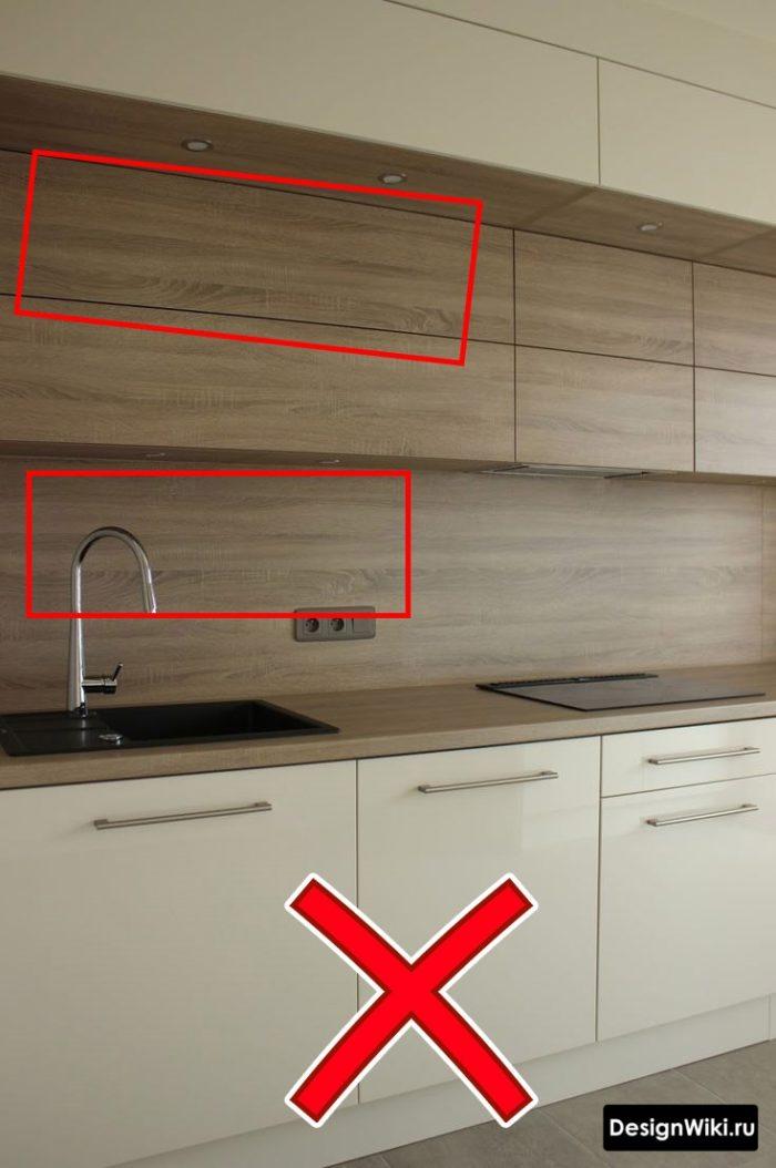Фасады белой кухни из ДСП под дерево - почему нельзя