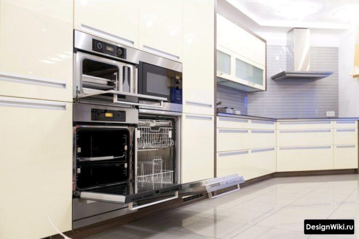Встроенная техника в современной кухне