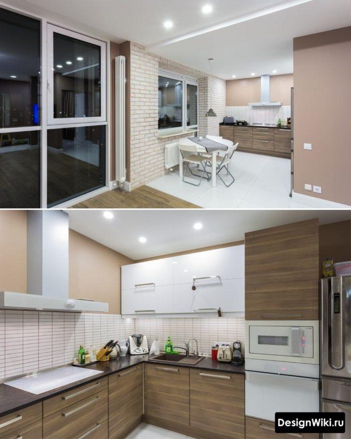 Маленькая угловая кухня без верхних шкафов